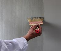 Lissage de la peinture métallisée au spalter